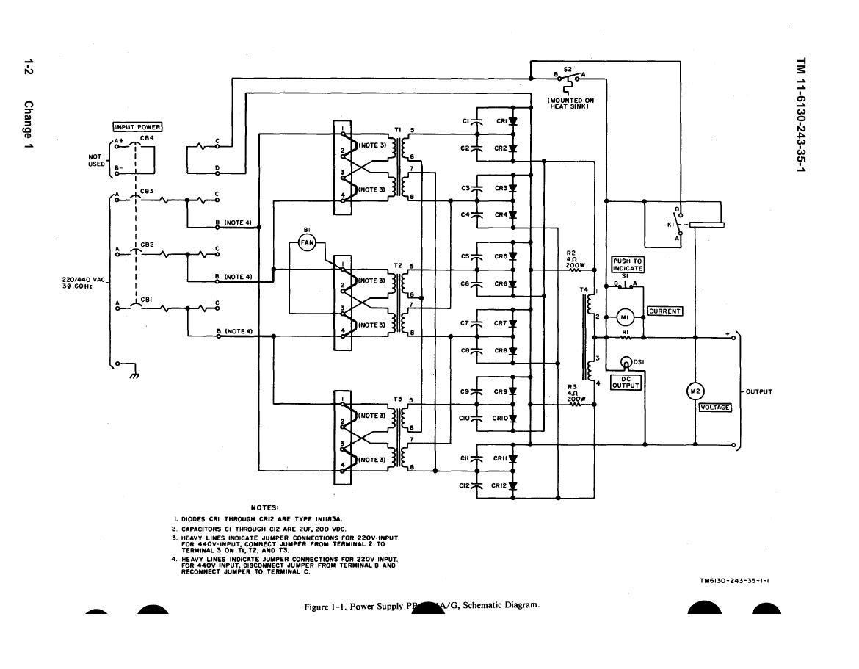 Figure 1 Power Supply Schematic Diagram Circuit