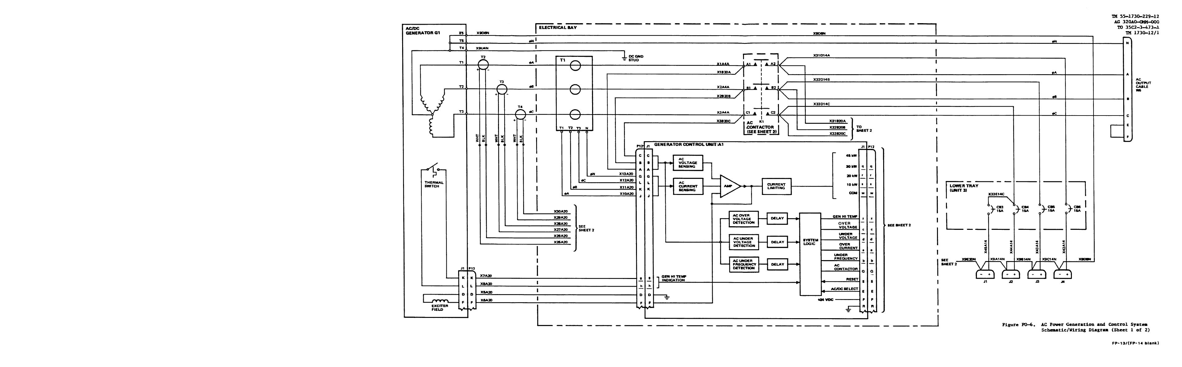 Figure Fo 6 Ac Power Genartion And Control System Schematic Wiring Diagram Tm 55 1730 229 12 Unit Aviation Multi Output Gted Electrical Hydraulic Pneumatic Agpu Wheel Mounted Self Propelled Towable Manual Page Navigation